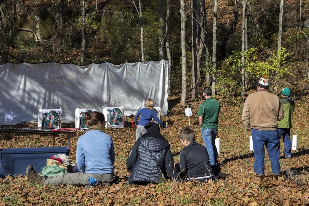 The attendance to the Raccoon Creek Partnership Archery Day Camp on Saturday, November 5, 2016, at Waterloo Aquatic Education Center, New Marshfield, Ohio. (Jorge Castillo Castro/WOUB)