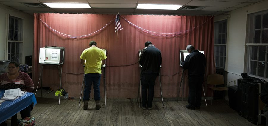 Voters cast their ballots on Election Day in McArthur, Ohio.
