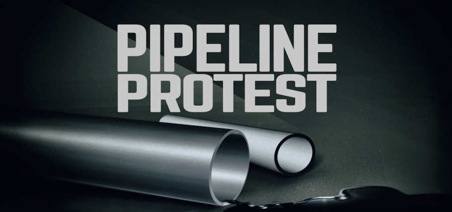 Pipeline protest graphic