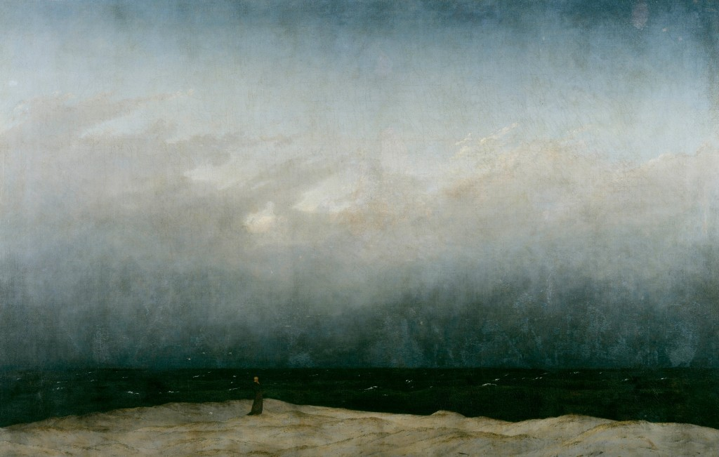 """""""Monk By the Sea,"""" painted between 1808 and 1810 by Caspar David Friedrich. (Pinterest)"""