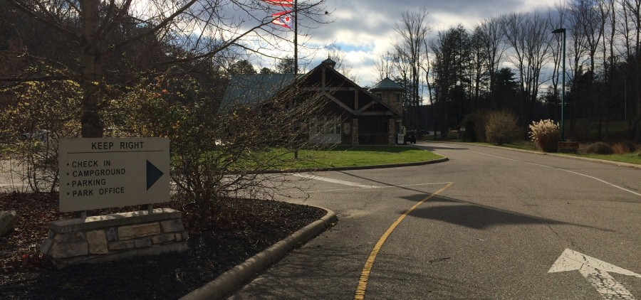 The ODNR post near the Hocking Hills Dining Lodge that went up in flames on Dec. 8.