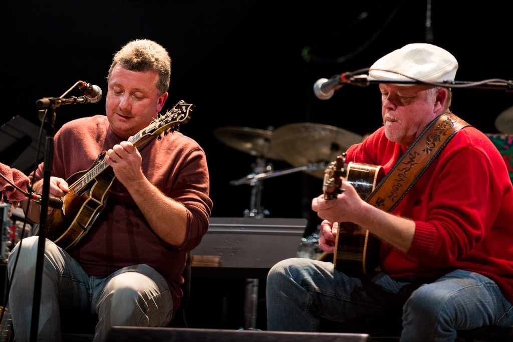 "Johnny Staats and Robert Shafer perform their new CD, ""Music from the Mountains"" at Mountain Stage. (Erin Clark/WOUB)"