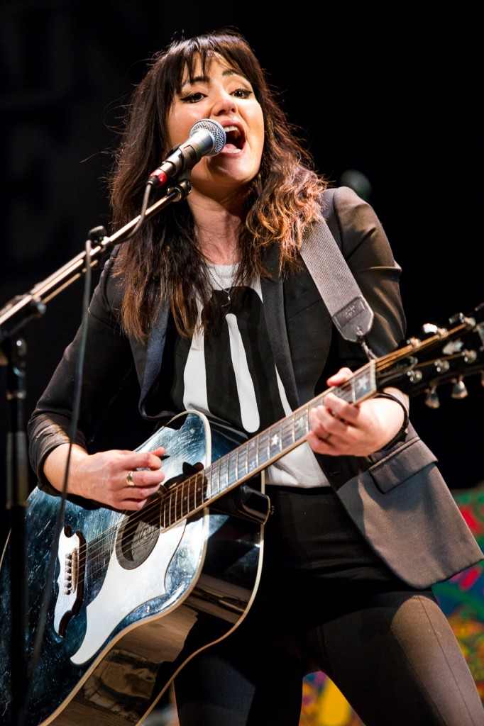 "K.T. Tunstall debuts her new album, ""Kin,"" at Mountain Stage on January 22 at the Templeton-Blackburn Memorial Auditorium. (Erin Clark/WOUB)"
