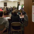 Students and community members attend the Who Said What? Workshop, teaching students and adults how to respond thoughtfully to opressive comments and attitudes at the First United Methodist Church in Athens, Ohio on January 18, 2017. (Michael Johnson/WOUB)