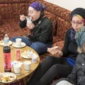 A group of women attend breakfast at the Ohio University Islamic Center in Athens, Ohio on January 20, 2017. (Camille Fine/WOUB)