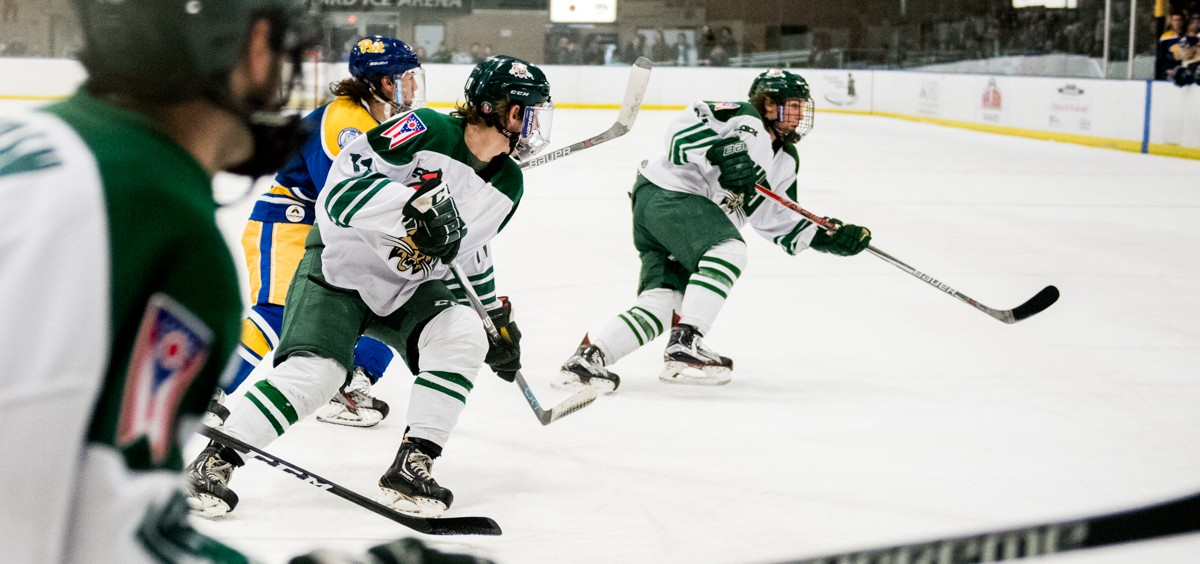 Ohio University went against the Pittsburgh Panthers in Bird Arena at Ohio University in Athens, Ohio,  on February 3, 2017. The bobcats won 9-0.