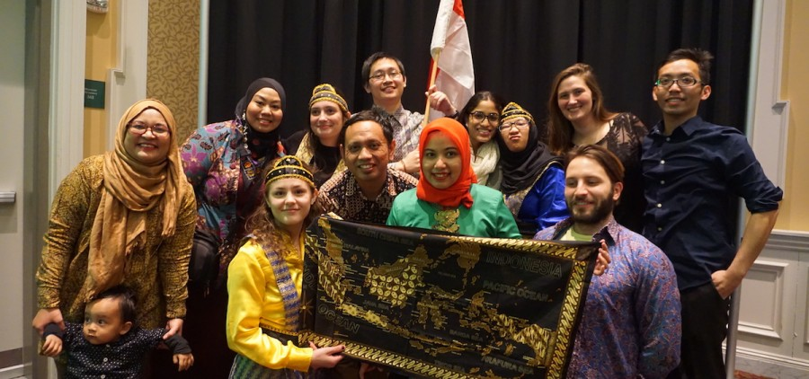 Members of Ohio University's Indonesian Student Association (PERMIAS) at a past Indonesian Night celebration. (Submitted)