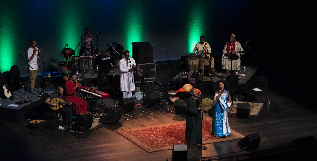 The Nile Project brings together artists from the 11 Nile countries to make new music that combines the rich diversity of one of the oldest places on Earth. The Nile Project performed at Ohio University on Feb. 27, 2017. (Meagan Hall/ WOUB)