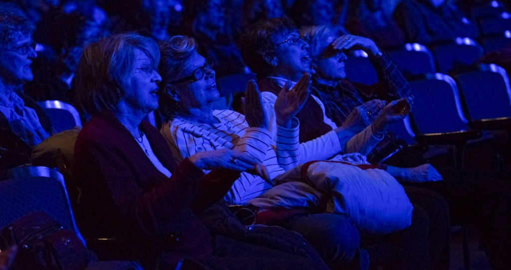 Audience members watching the Nile Project perform at the Templeton-blackburn Alumni Memorial Auditorium on Feb. 27, 2017. (Meagan Hall/ WOUB)