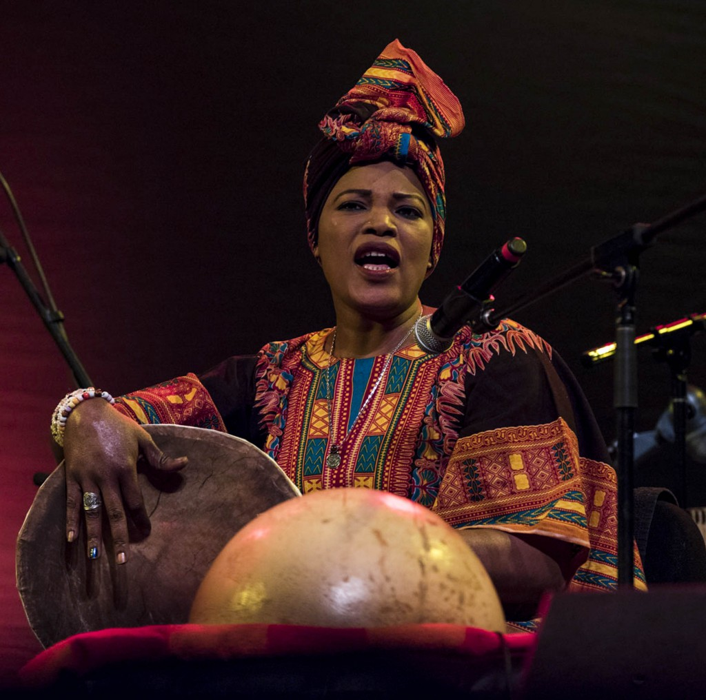 Asia Madani,  a vocalist and percussionist from sudan. Asia has performed at many international festivals, and is now a member of Nile Project.  (Meagan Hall/ WOUB)
