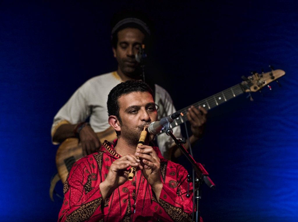 Nader EL Shaer, born in Egypt, plays the Ney, a brown ended flute. (Meagan Hall/ WOUB)