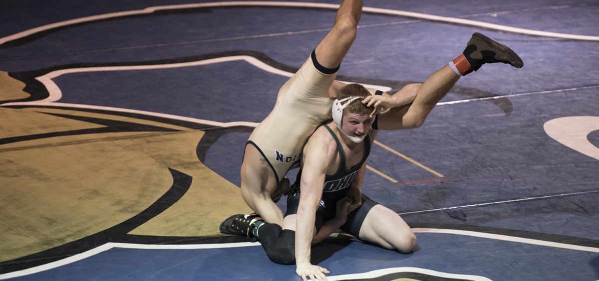 Austin Reese would take down Evan Delong in a 3-1 decision.  (Robert McGraw/WOUB)