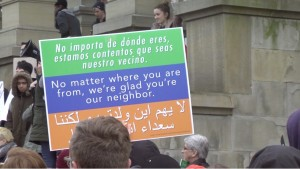 Protester's Sign