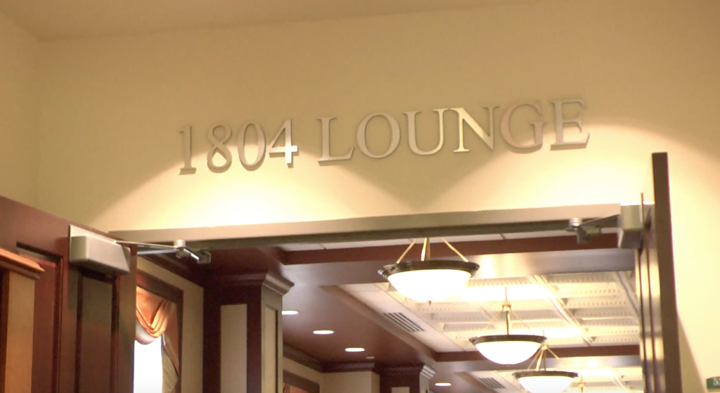 The entrance to the 1804 Lounge in Baker.