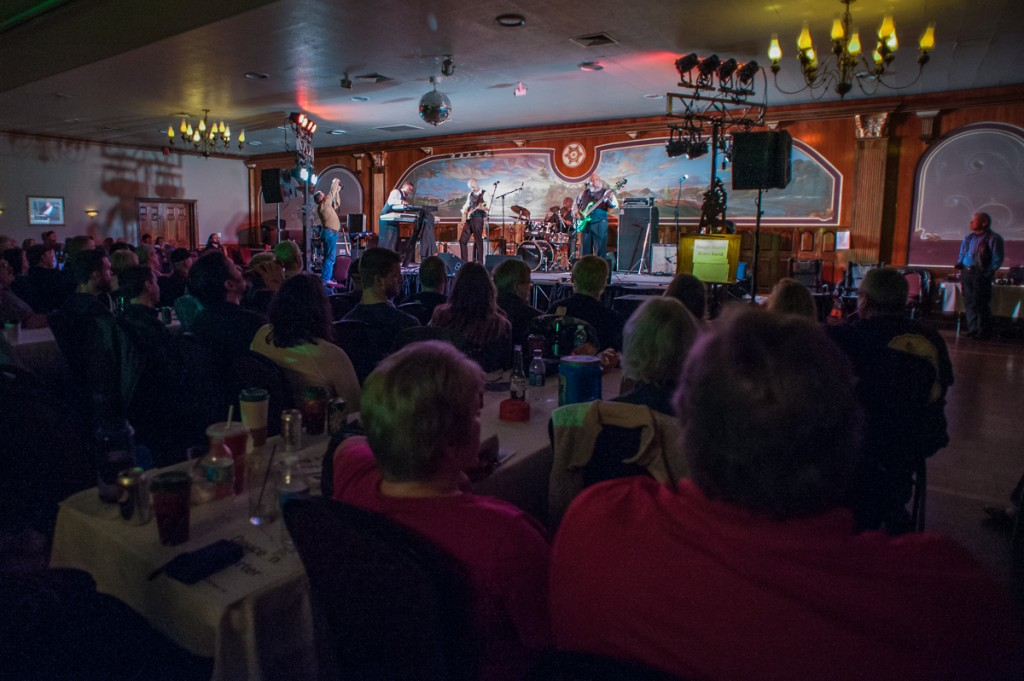 The Gough Martin Blues Band takes the stage during the 25th Annual River City Blues Competition.(WOUB/Drake Withers)