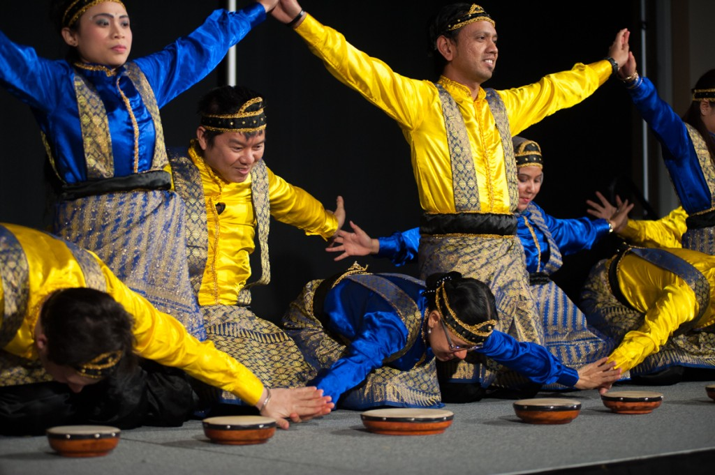 February 12, 2017—Athens, Ohio—Ohio University Students, both Indonesian and from other backgrounds, perform the Indang Dance, which represents cross-cultural friendship.