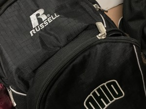 A Russell brand athlete's backpack.