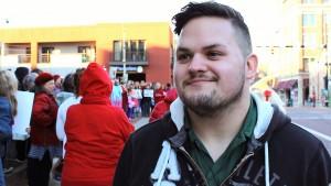 Rally participant Douglas Robinson.