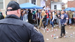 This party was shut down by the police - like many other party's this Saturday.