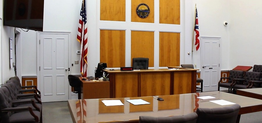 Courtroom of the Athens County Municipal Court.