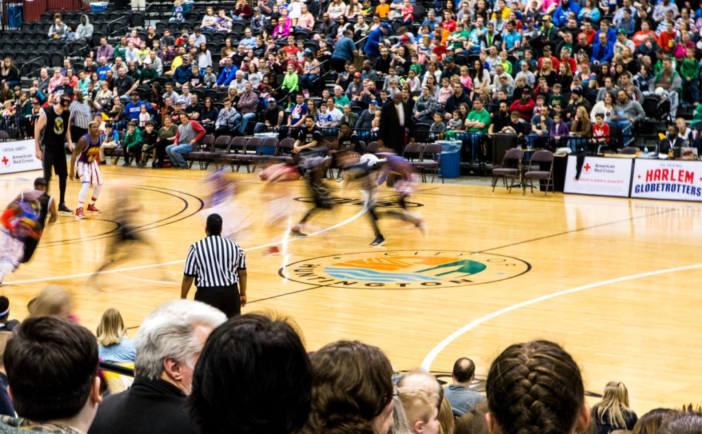 The Harlem Globetrotters game was in the Big Sandy Superstore Arena, in Huntington, West Virginia, on March 1, 2017. Carolyn Rogers/WOUB)