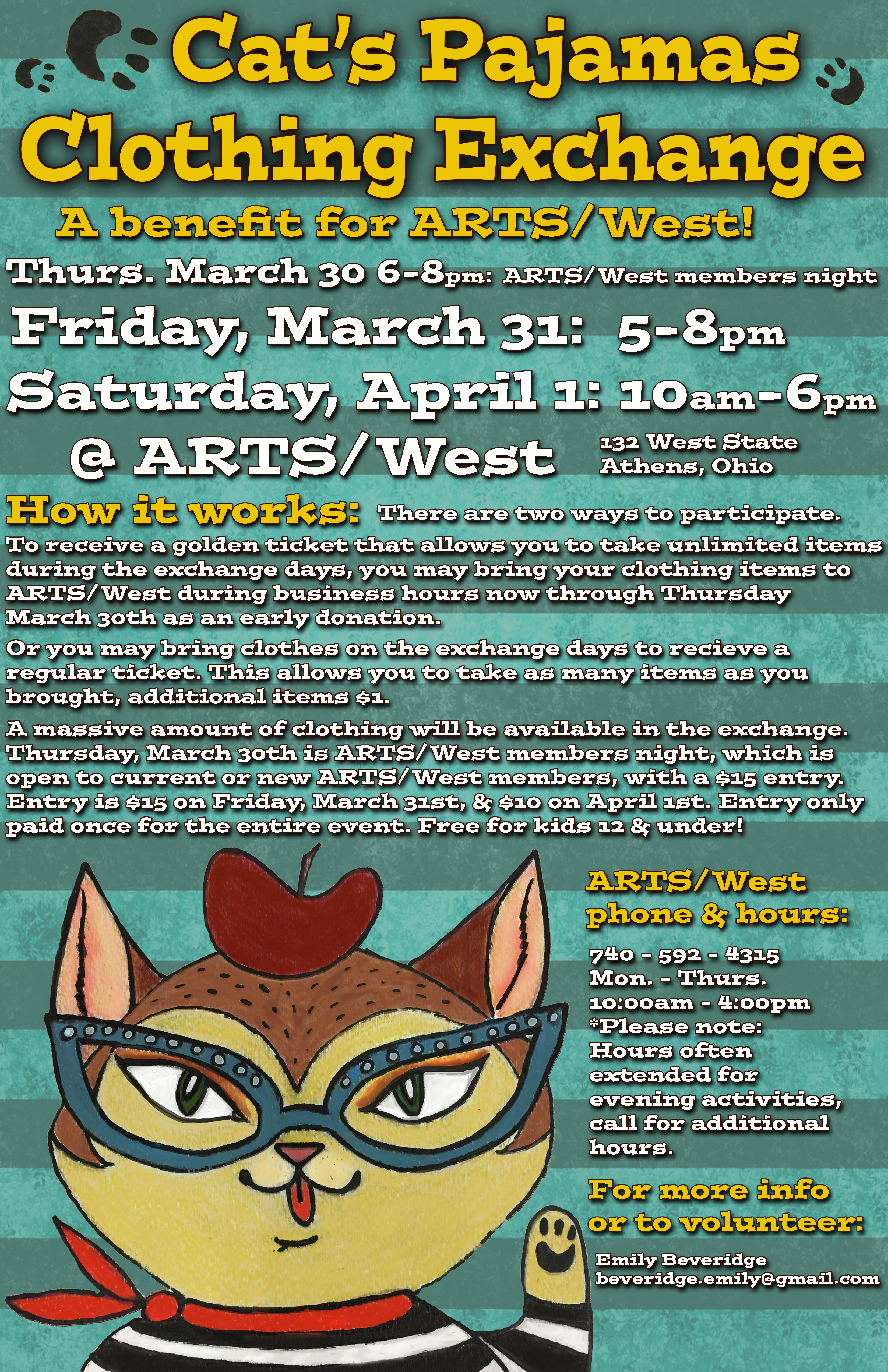 552c0e7f66 The Cat s Pajamas Clothing Exchange is a biannual fundraiser for ARTS West
