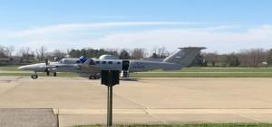 U.S. Dept. of Homeland Security plane at Ohio University's airport