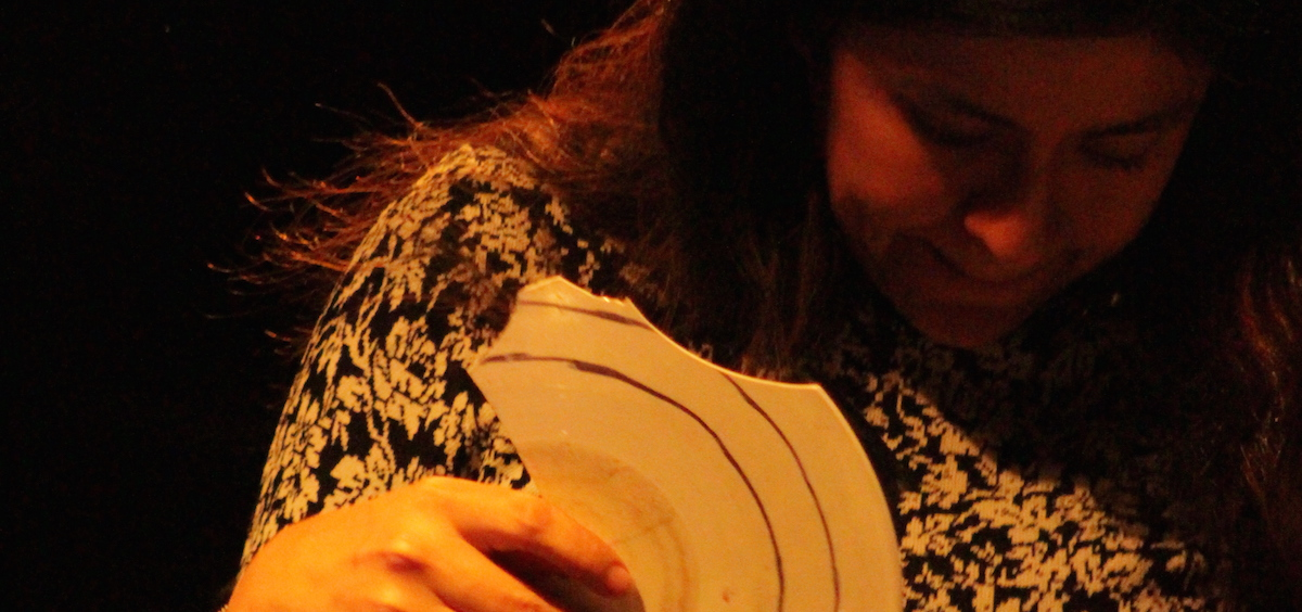 Artist Maria Chavez performs at ARTS/West Friday, March 17. (Marie Swartz/WOUB)