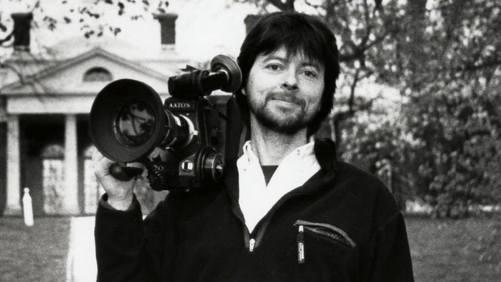 A young Ken Burns with his camera. (youtube.com)
