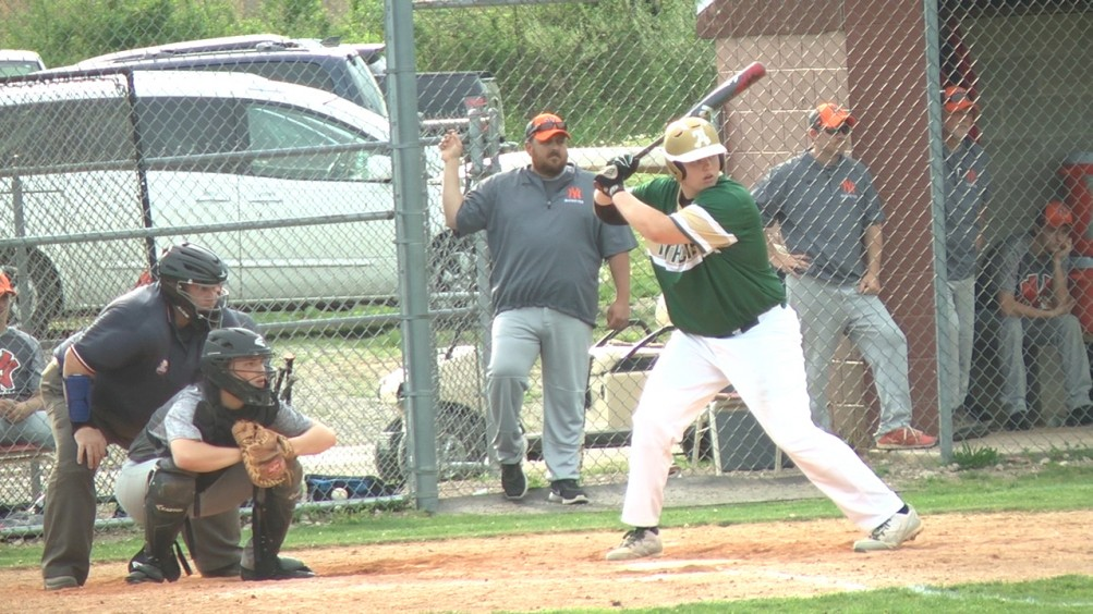 Brody Rodgers at bat for the Athens Bulldogs on April 19, 2017.