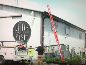 Little Fish Brewing Company Installing Solar Panels