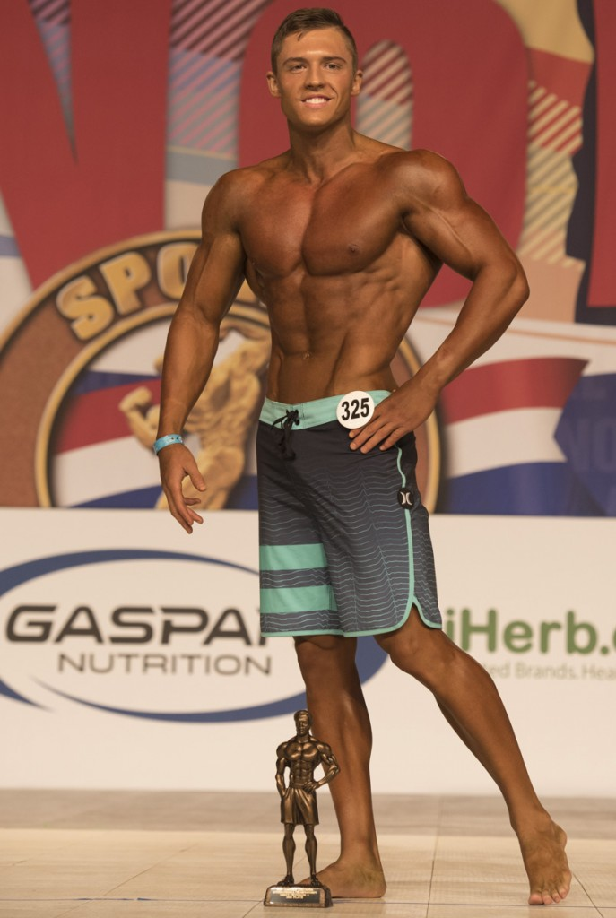 Nick would take third place out of 18 contestants from around the world in the Arnold Amateur Men's Physique class A division. (Robert McGraw/WOUB)