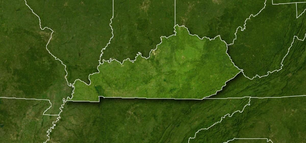 Kentucky on a map
