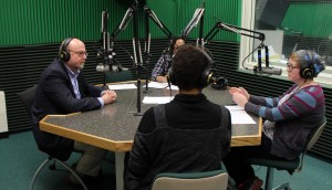 APEG President, CEO John Molinaro (left) talks with the WOUB News team for this episode of the #457SEO Podcast