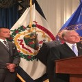 HHS Secretary Tom Price (at podium) speaks at a press conference in Charleston, West Virginia (Ashton Marra/ WVPB)
