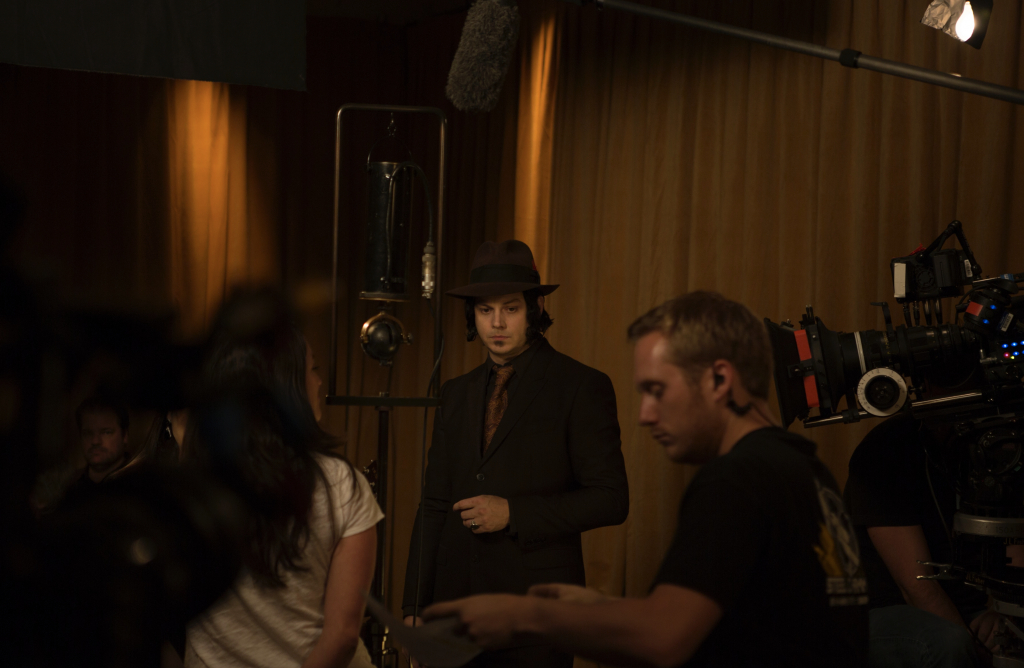 """Jack White amidst one of the recording sessions documented in """"American Epic."""" (Lo-Max Records Ltd.)"""
