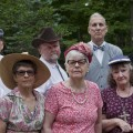 """The cast of the ABC Player's """"The Trip to Bountiful."""" Front Row: Rita Preston, Celeste Parsons, Ruth Borovicka, Sylvia Abbott, Jim Parsons Back Row: Mike Bila, Ken Bowald, Terrence J. Smith, Doug Bentley. (Submitted)"""