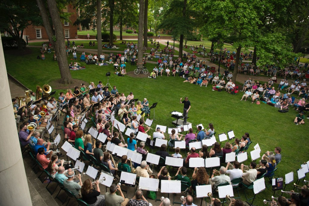 Andrew Trachsel directs the Communiversity Band. (Submitted)