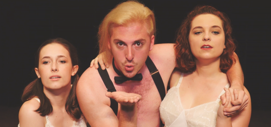 "Sara Saho, Cole Mazaher, and Sarah Price in a scene from ""Cabaret."" Peoples Bank Theatre, in a joint effort with Marietta College Department of Theatre, will present ""Cabaret"" and ""The Merchant of Venice"" in Marietta over the next couple of weeks. (Submitted)"