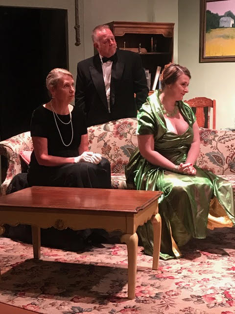Rebecca Wagstaff, Eric Blake, and Jillian Von Gunten in ZCT's production of 'Blithe Spirit.' (Submitted)