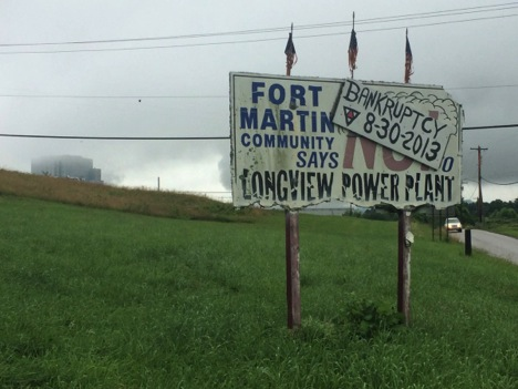 Longview Power Plant Sign