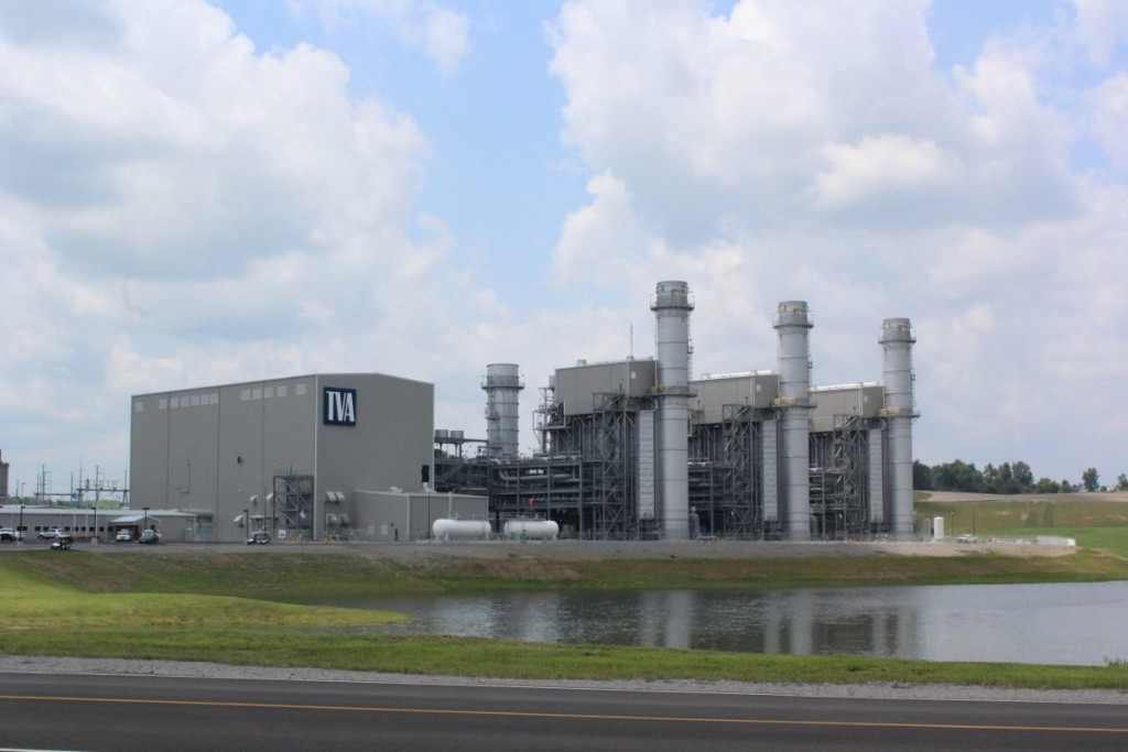 VA's new 100 MW gas-fired facility at Paradise, KY. (Becca Schimmel/ Ohio Valley ReSource)