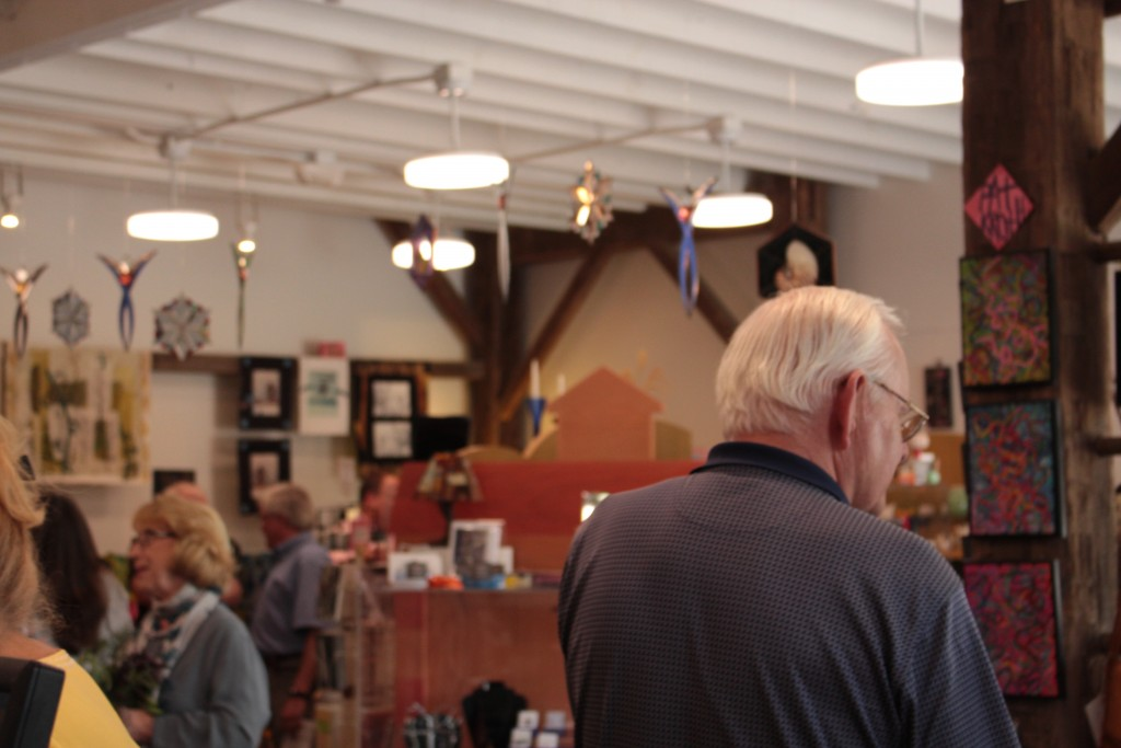 The new gallery shop at the Dairy Barn Arts Center is nearly twice the size of the organization's former one. (WOUB/Emily Votaw)