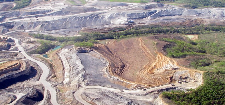 A mountaintop removal mine site in southern West Virginia.