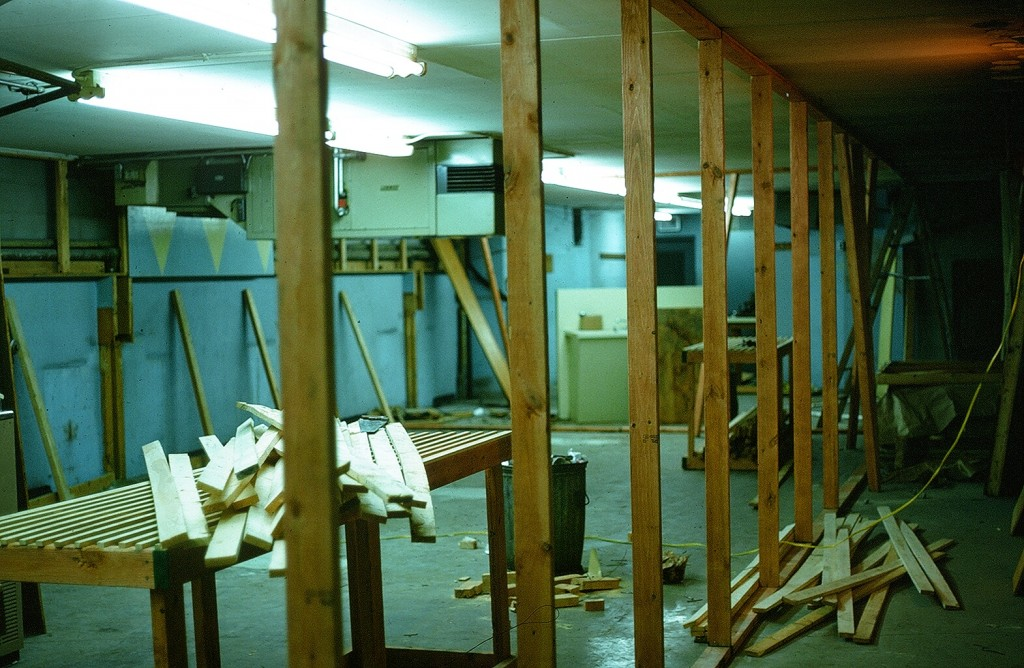 A photo of the interior of the original location of Haffa's Records as owner Terry Higgins remodeled the space after it's tenure as a laundromat. (Submitted)