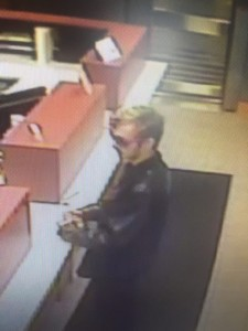 Suspect wanted in connection to the Wednesday robbery of the Hocking Valley Bank in The Plains. (Athens County Sheriff's Office)