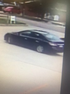 The alleged getaway car in Wednesday's robbery of Hocking Valley Bank in The Plains. (Athens County Sheriff's Office)