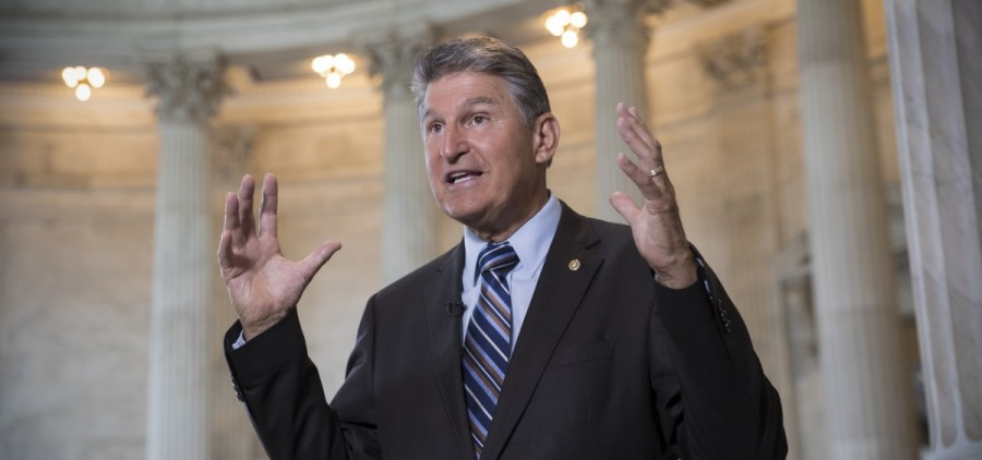 Sen. Joe Manchin, D-W. Va. responds to questions