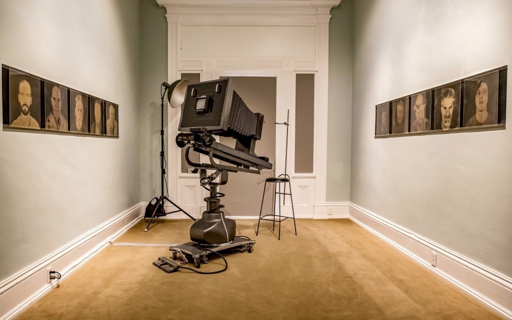 """Artist Stephen Takacs' reimagining of an early photographic """"operating room."""" (WOUB/Margaret Sabec)"""