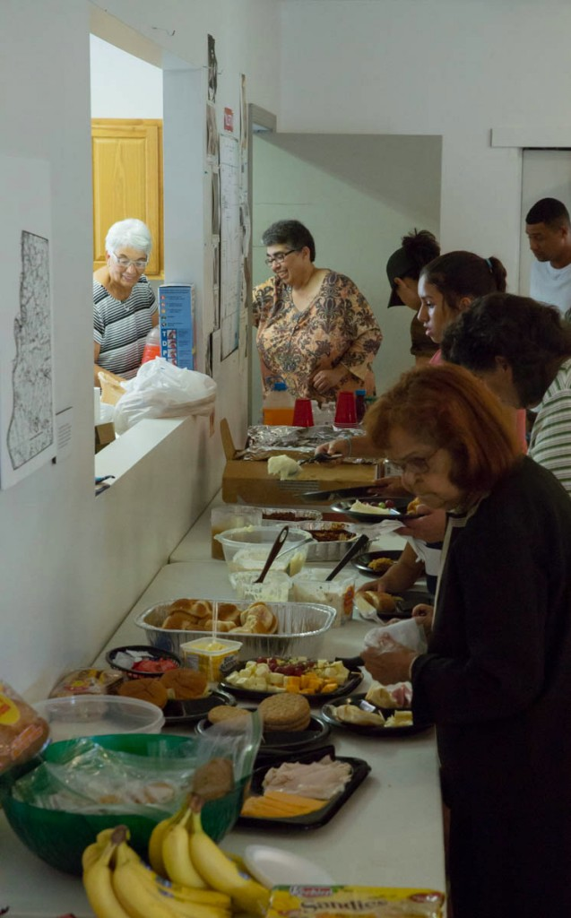 Visitors enjoy lunch provided by the Kilvert Community Center for Kilvert Community Day on September 17, 2017. (Haldan Kirsch/WOUB)